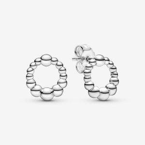 PANDORA Beaded Circle Stud Earrings